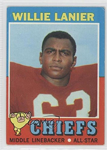 Topps Card 1971 Football (Willie Lanier COMC REVIEWED Good to VG-EX (Football Card) 1971 Topps #114)