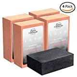 Facial Mask Oatmeal Homemade - [USA] SAPO Organic Bamboo Charcoal Soap Bar [4 Single Packs] - 100% Natural US Handmade - Helps with Acne, Psoriasis, Eczema - Coconut Oil, Oatmeal, Shea Butter Cleansing Bars for Face and Body Wash