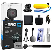 GoPro HERO5 Session CHDHS-501 with Floaty Bobber + Selfie Stick + HDMI Cable + MicroSD Reader + Card Wallet + Tripod Adapter + Cleaning Kit