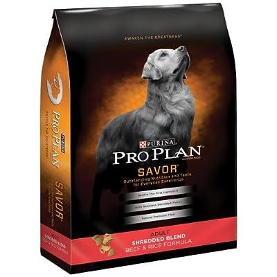 Purina Pro Plan Savor Shredded Blend Beef Rice Dry Adult Dog Food (18 Lb)