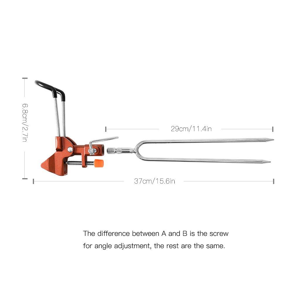 Walmeck Adjustable Detachable Carp Fishing Rod Pod Stents Holder Fishing Pole Rod Stand Bracket Fishing Tackle Fishing Accessory