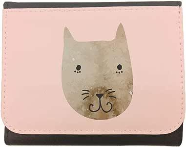 محفظة جلد cat بتصميم قطة، مقاس 12cm X 10cm