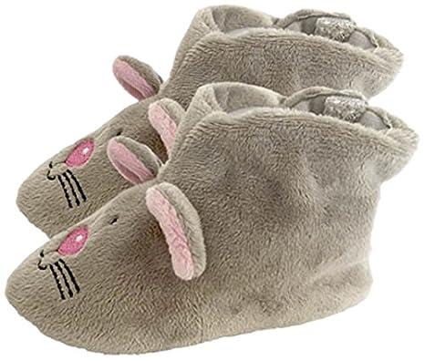 Peluches Cel Zapatillas ratón de peluche, color gris (MAE ...