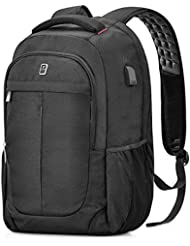 Laptop Backpack,Sosoon Business Bags with USB Charging Port Anti-Theft Water Resistant Polyester School Bookbag...