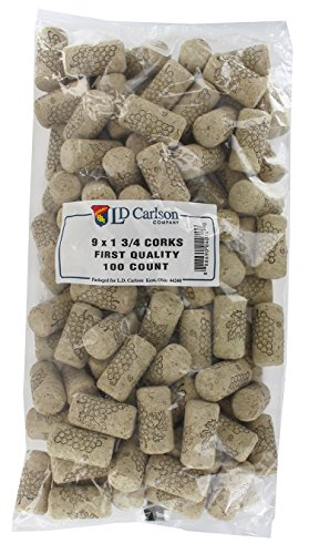 9x1 3/4 First Quality Straight Wine Corks 44 X 23mm 100/Bag by LD Carlson