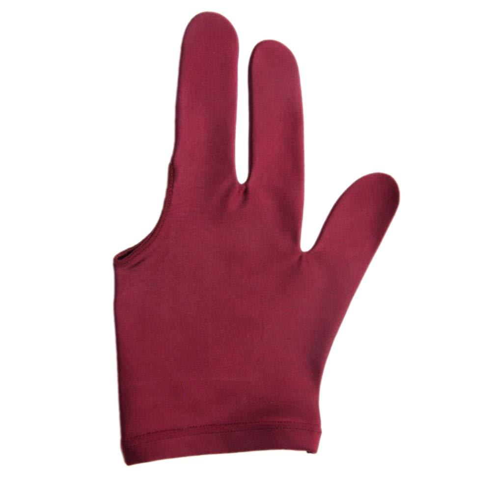 3 Finger f/ür Linksh/änder PINKLADY Snooker-Handschuh//Billard-Handschuh Spandex