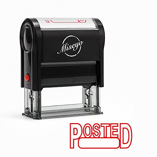 Miseyo POSTED Self Inking Rubber Stamp - Red Ink