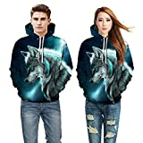 Corriee Fashion Tops for Women Men 2018 Lovers Fall Long Sleeve Print Hoodies Pullover Casual Unisex Hooded Sweatshirts