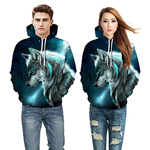 Corriee Fashion Tops for Women Men 2018 Lovers Fall Long Sleeve Print Hoodies Pullover Casual Unisex Hooded Sweatshirts by Corriee Men Hoodies