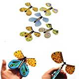Gold Happy 100pcs Magic Butterfly Flying Butterfly From Empty Hands Freedom Butterfly Magic Tricks Mentalism Magie Kids Children Toy