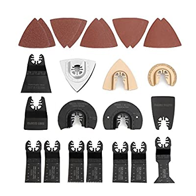WORKPRO 25-piece Oscillating Multitool Quick Release Accessories Saw Blades Kit