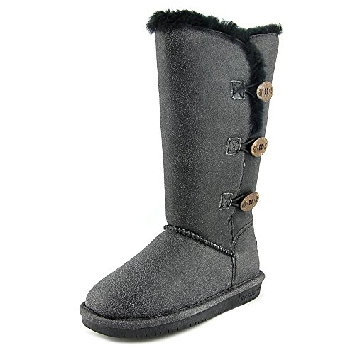 Bearpaw Damen Lauren Tall Winterstiefel Schwarz Distressed