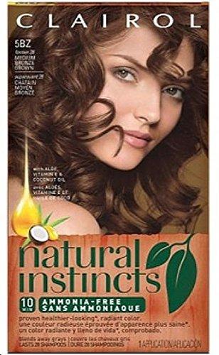 Clairol Natural Instincts Medium Bronze Brown 5BZ, 1 ea Clairol Bronze Hair Color