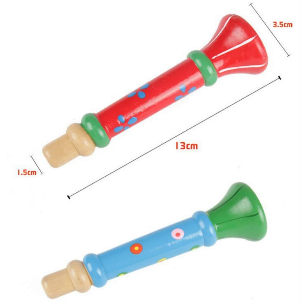 Horn Youyun Holz Regenbogen Handbell Holz Hand Musikinstrument Glocke Xylophon Horn Musical und lautes Spielzeug f/ür Baby Kinder