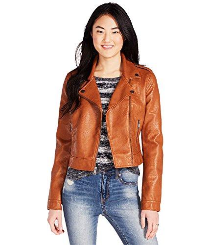 Aeropostale Womens Cape Leather Jacket