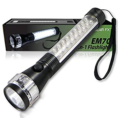 EcoGear FX Emergency Vehicle Flashlight (EM70): A 3-in-1 Multi-Function LED Flashlight, High Lumen 100,000 Hours CREE Flashlight with a MAGNETIZED BASE (Batteries Not Included) by EcoGear FX