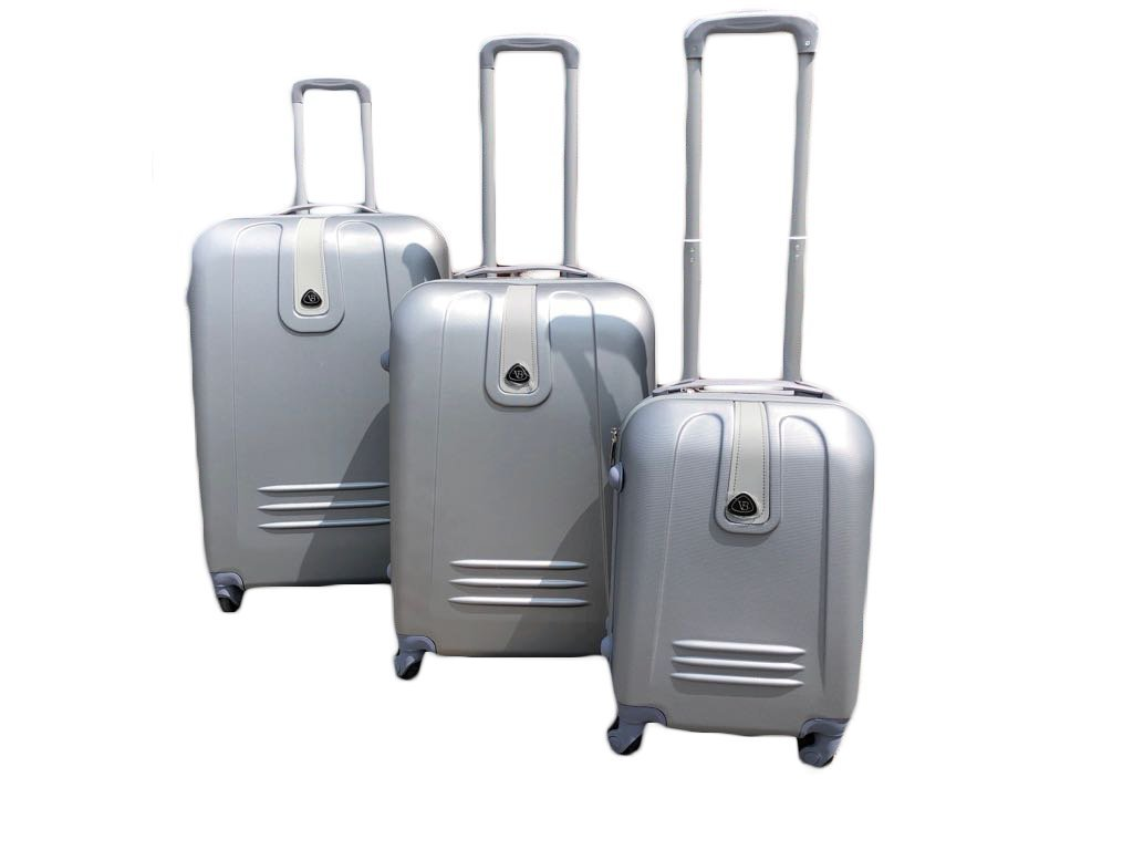 3-Piece Luggage Set with Rolling Spinner Wheels (Black)