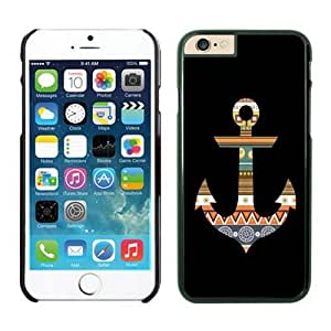 Awesome Iphone 6 Case 4.7 Inches, Colorful Aztec Anchor Black Hard Phone Cover Case for Apple Iphone 6