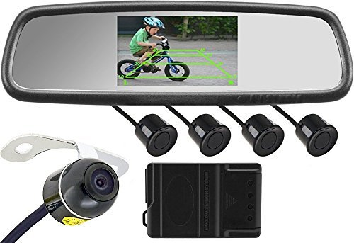 Rearview Backup Camera System (Rear View Mirror with Built-in 5 inch Display, Color Camera and Sensors) HK-5068P [並行輸入品] B01N0WTD42