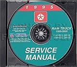 1995 DODGE RAM TRUCK & PICKUP REPAIR SHOP & SERVICE MANUAL CD Including 1500, 2500, 3500, LT, ST, SLT, Work Special 2WD, 4WD, gasoline and diesel engines