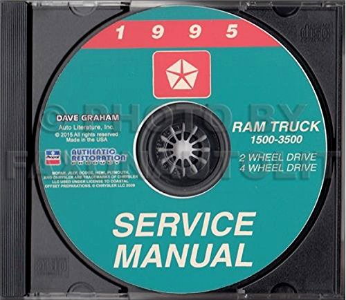 1995 DODGE RAM TRUCK & PICKUP REPAIR SHOP & SERVICE MANUAL CD Including 1500, 2500, 3500, LT, ST, SLT, Work Special 2WD, 4WD, gasoline and diesel engines ()