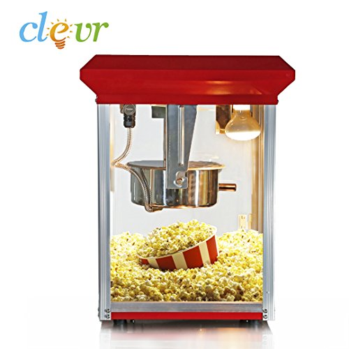 Clevr Commercial Retro 8oz Popcorn Machine Top Popcorn