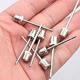 Yonisun 10pcs Sports Inflating Needle Pin Football Basketball Soccer Metal Ball Air Pump