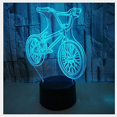 Mountain Bike Night Light Stereo Table lamp 3D LED Illusion lamp Gift Table lamp