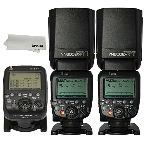 YONGNUO 2 Pack YN600EX-RT II Auto TTL HSS Flash Speedlite and YN-E3-RT Controller for Canon 5D3 5D2 7D Mark II 6D 70D 60D 650D (Best Yongnuo Flash For Canon 60d)