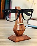 Icrafts Wooden Hand Carved Eyeglass Nose Shaped Spectacle Holder Stand Display Stand Home Decor (Nose Shaped)