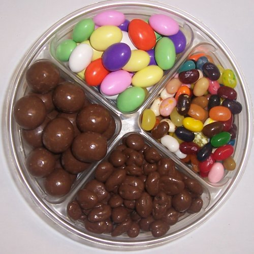Scott's Cakes 4-Pack Chocolate Jordan Almonds, Chocolate Malt Balls, Chocolate Raisins, & Assorted Jelly Beans