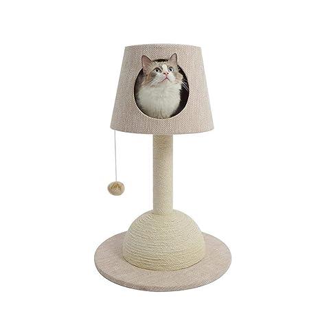 Weiwei Gato árbol Mesa lámpara Gato Estante Medio Gato Captura Placa Cat árboles Cat Gato de