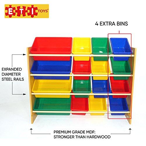 ETI Toys -16 Extra Capacity Bins...