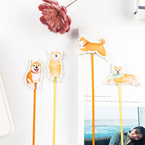Vann92(TM) Puppy Dog Magnetic Bookmarks With Ribbon Books Marker of Page Stationery Office Supply Paper Clip