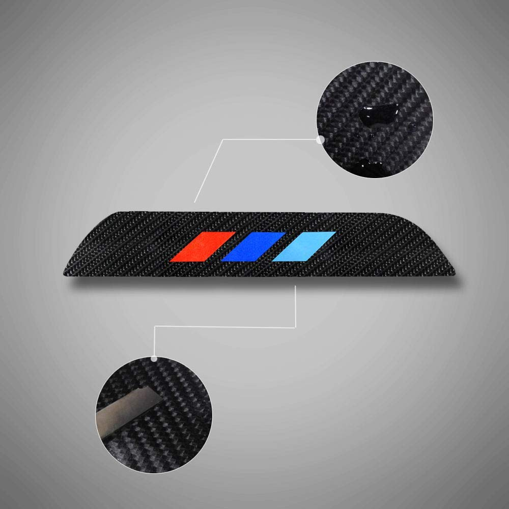 4pcs set 3 Colors Carbon Fiber Car Door Sill Covers Protectors For 3 Series E90 E91 320 325 330 335 2005-2008