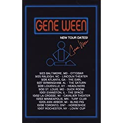 Gene Ween - Lead Singer of Ween - Autographed 2015 Solo Tour Poster/Photograph