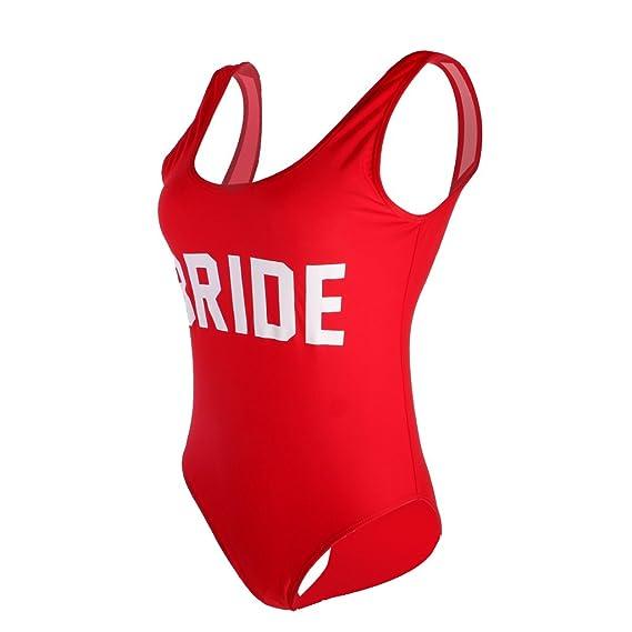 MagiDeal Traje de Una Pieza Traje de Baño de Mujeres Impreso con Bride Bikini de Playa para Natación 3 Colores: Amazon.es: Ropa y accesorios