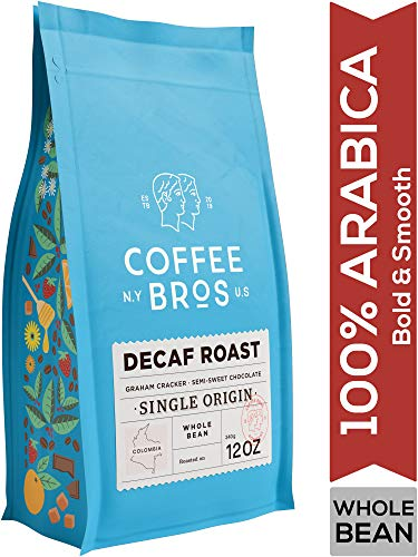 Coffee Bros., Decaf Coffee Beans, Whole Bean, Medium Roast, 100% Arabica Coffee Beans, Gourmet Coffee, 12oz (Coffee Beans Decaf)