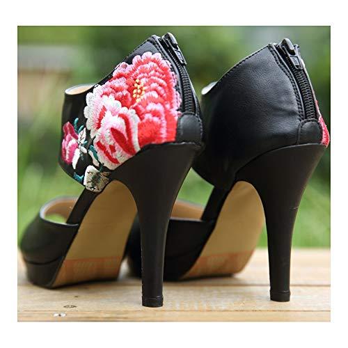 De Negro Bailarinas Lona Mujer Kzy Para gw5XqnR