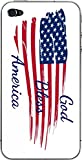 American Flag God Bless America Quote iPhone 4 and 4s Vinyl Decal Sticker Skin