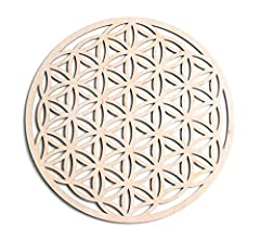 We're excited to announce that our Flower of Life Sacred Symbol is made with improved, durable wood quality!!! SACRED GEOMETRY: Mathematically perfect ratios and lines, this Flower of Life, (also known as Seed of Life or Genesis Pattern) is ...