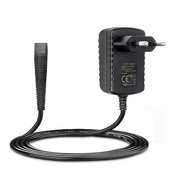 Cargador Adaptador de 6 V 600 mAh Compatible con Braun 130/140/150/5417/5418/530/550/HC3050/BT5090/530s/550s Shaver EU Plug