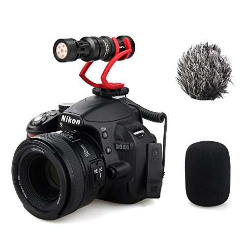 Compact Shotgun Microphone - Comica CVM-VM10II Full Metal Compact On Camera Cardioid Directional Mini Shotgun Video Microphone for Smartphone iPhone,HuaWei,DJI Osmo,SonyA9/A7RII/A7RSII,GH4/ GH5, and DSLR Camera(Red)