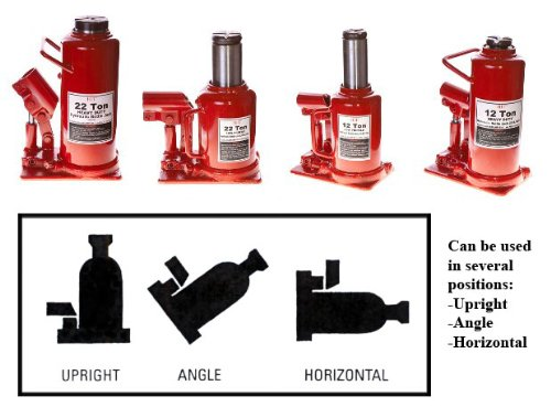 Hit Tools 20-BJ22HL 22-Ton Heavy Duty Hydraulic Bottle Jacks, LOW PROFILE Ucostore