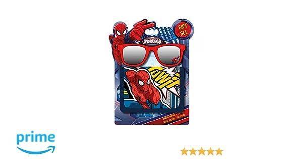 Disney Spiderman cartera + Spiderman gafas de sol, MV92281, azul y rojo