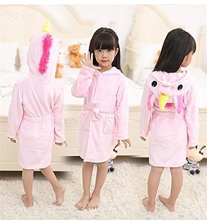 EVILDOE-R Batas de baño de Las niñas, niños Suave Albornoz cómoda Loungewear,