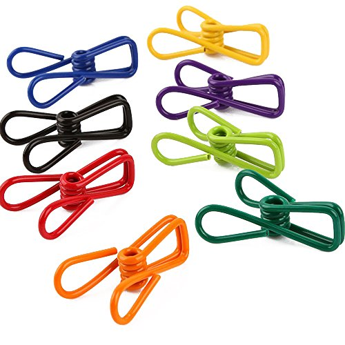 - Yueton Pack of 30 Multi-Purpose Clothesline Utility Clips, Steel Wire Clips by Blovess