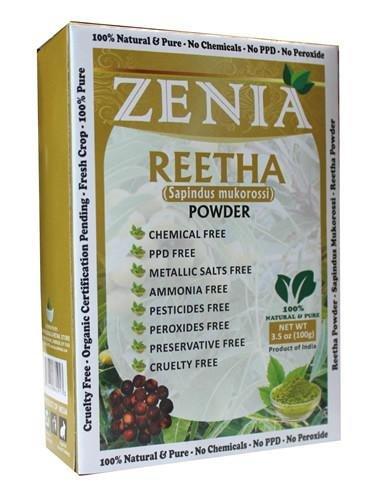 100gram Zenia Aritha Reetha Powder Bottle Natural