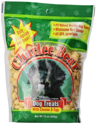 Charlee Bear Dog Treat, 16-Ounce, Cheese/Egg (Charlee Bear Dog Liver Treats)