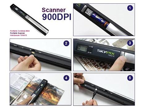 SKYPIX Mini Scanner De Poche Haute Resolution Portable Sans Fil ...